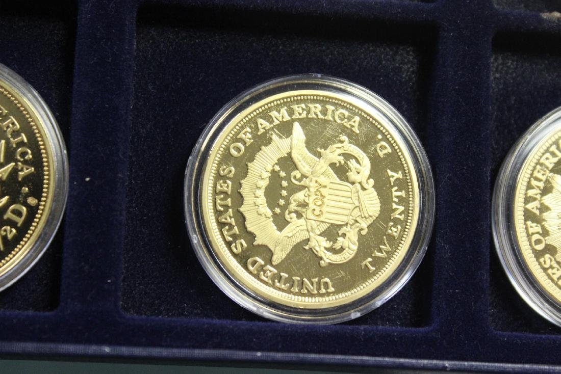 A Copy of Gold Plated Commemorative Coins - 10
