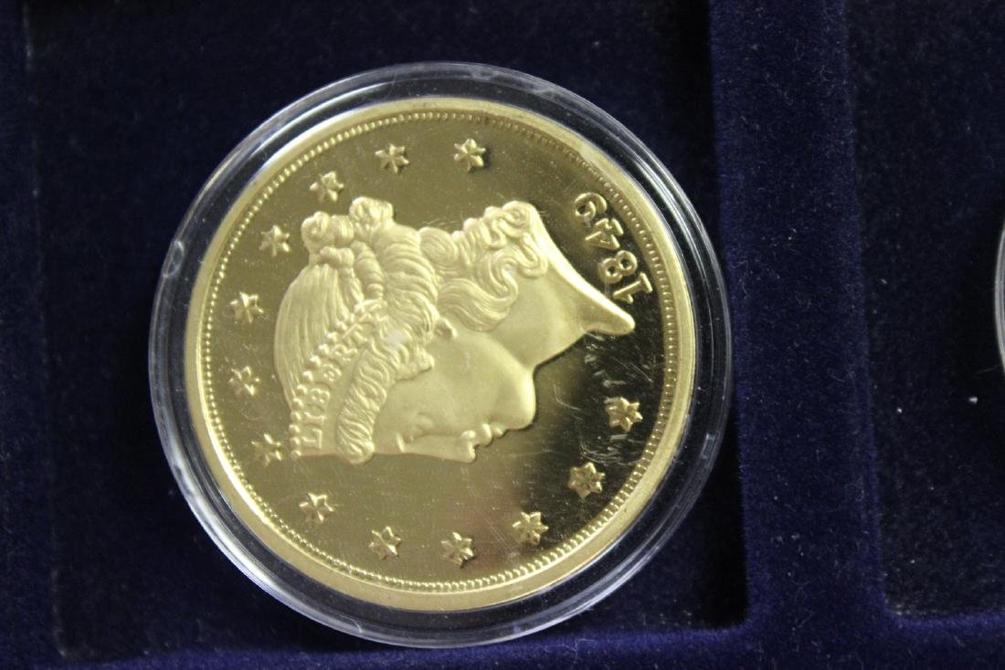 A Copy of Gold Plated Commemorative Coins - 3