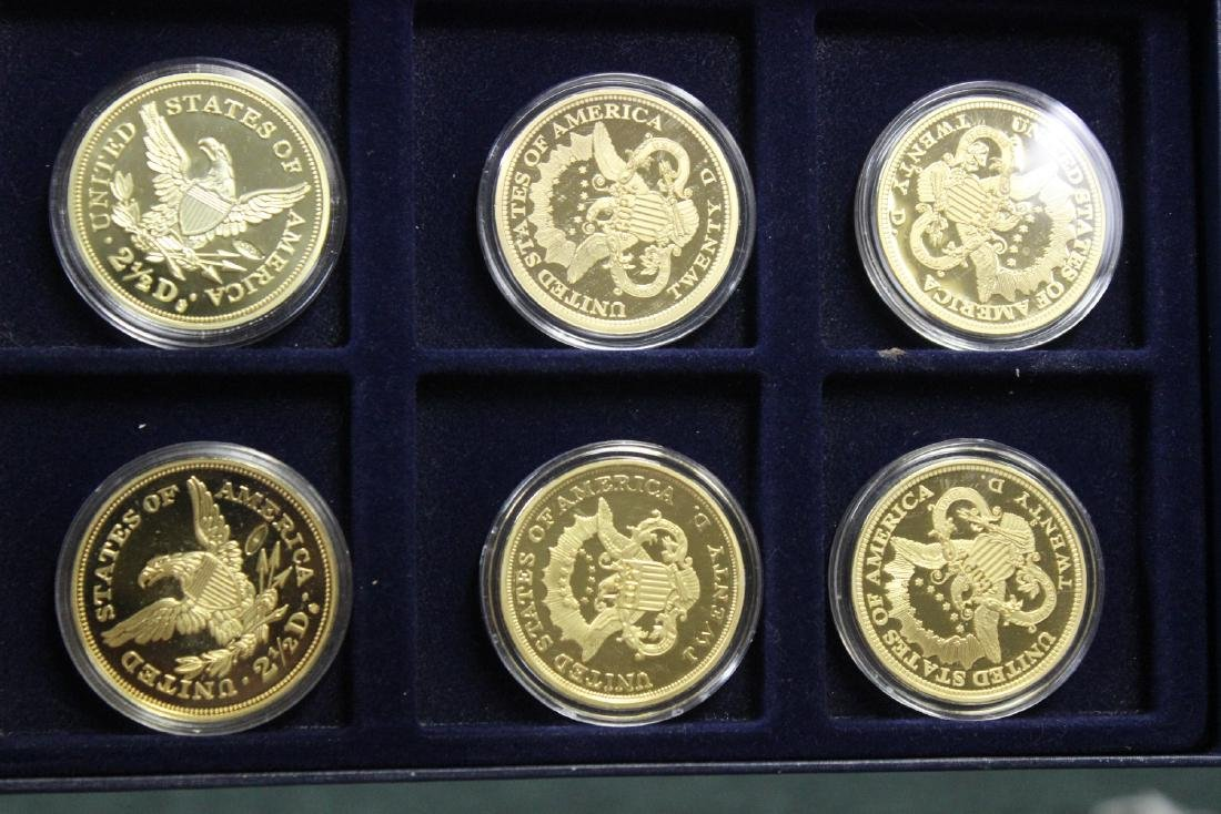 A Copy of Gold Plated Commemorative Coins - 7