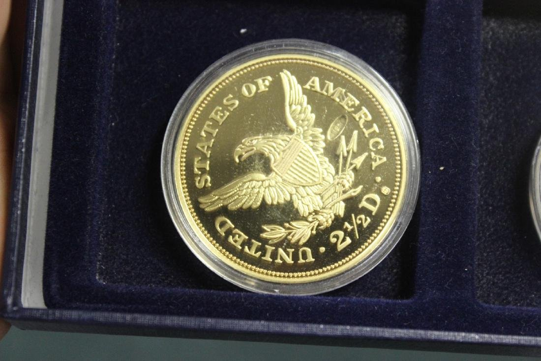 A Copy of Gold Plated Commemorative Coins - 9