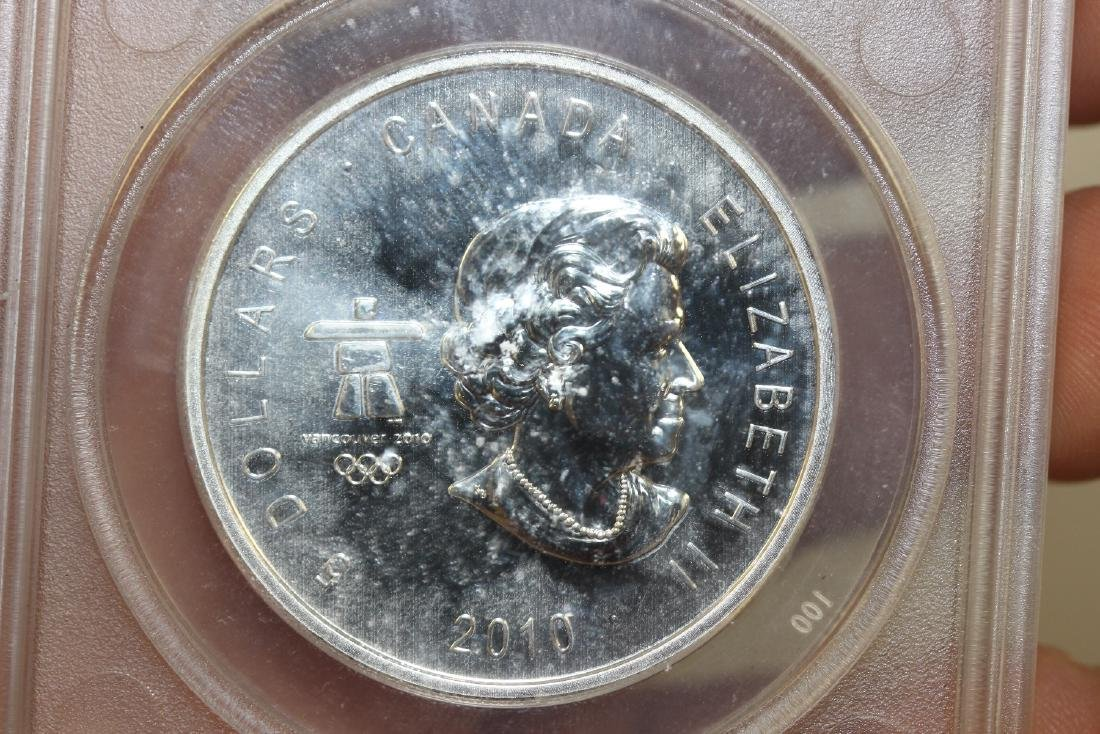 A 2010 Anacs Canada Olympic Silver $5.00 - 2