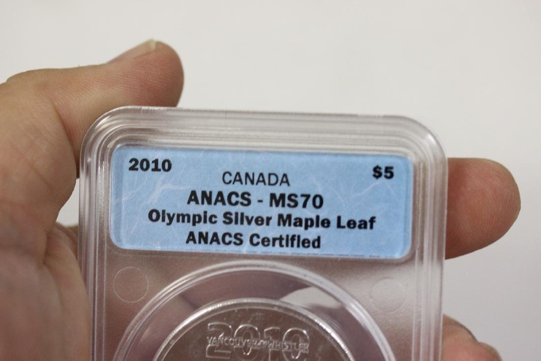 A 2010 Anacs Canada Olympic Silver $5.00 - 4