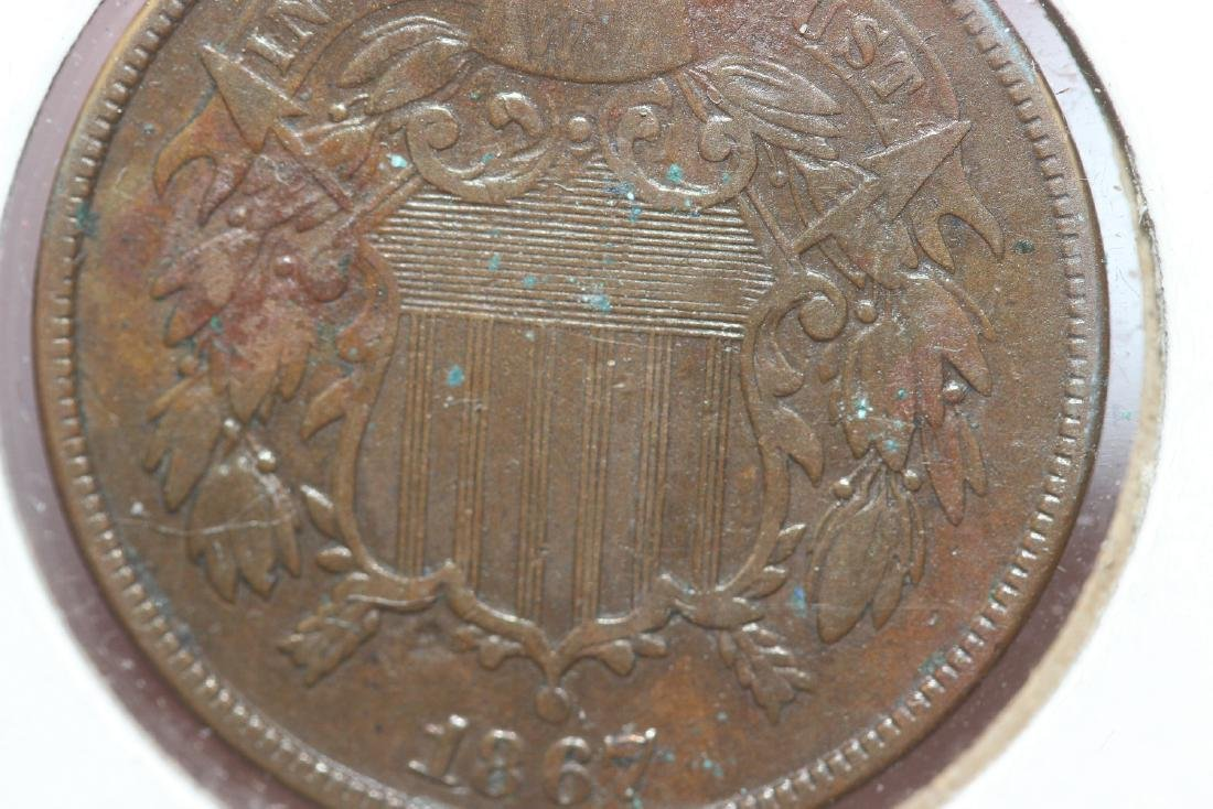 An 1867 Two Cents - 5