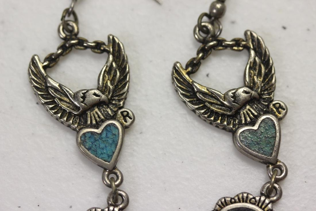Pair of Harley Davidson Vintage Earrings - 2