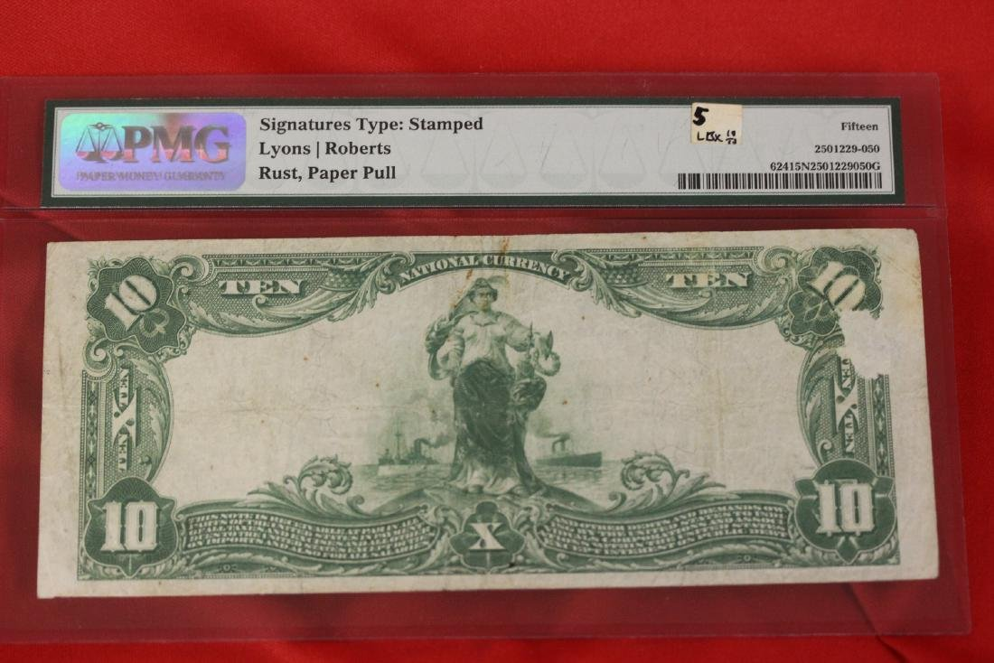 A 1902 Ten Dollar Note Horse Blanket - 10