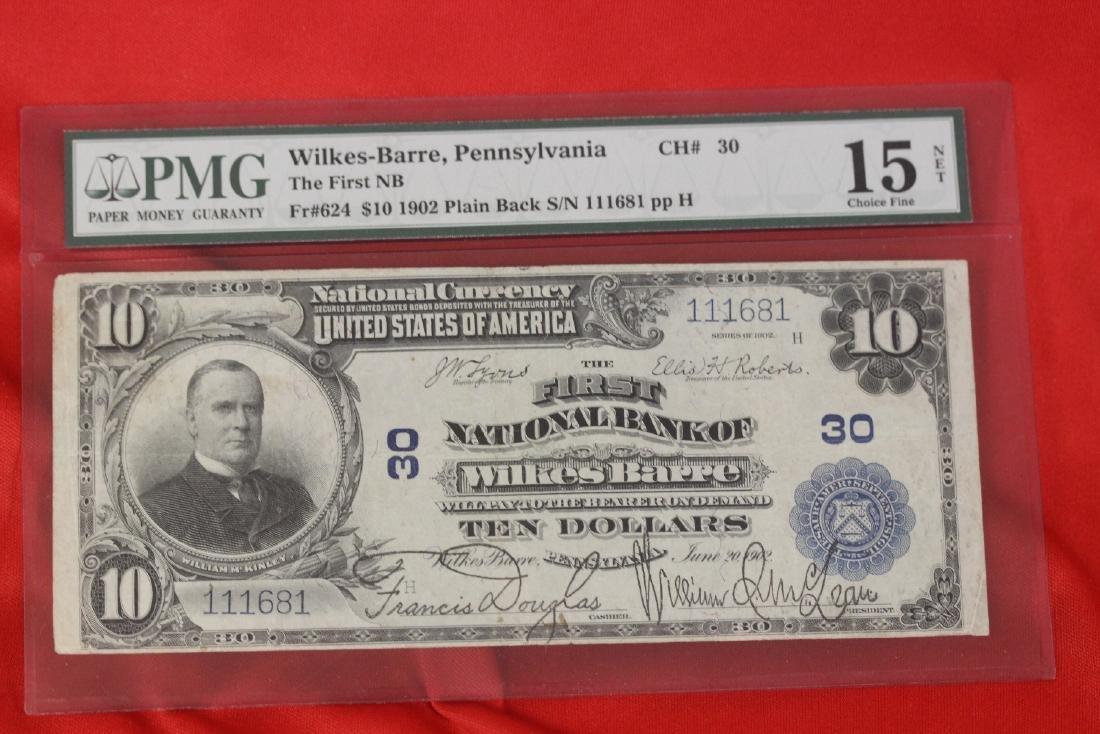 A 1902 Ten Dollar Note Horse Blanket