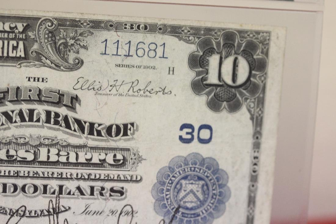A 1902 Ten Dollar Note Horse Blanket - 2
