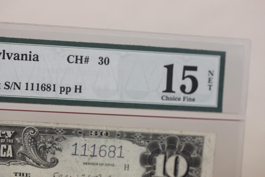 A 1902 Ten Dollar Note Horse Blanket - 3