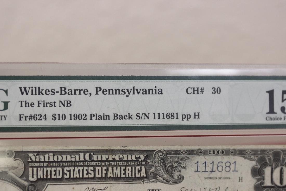 A 1902 Ten Dollar Note Horse Blanket - 4