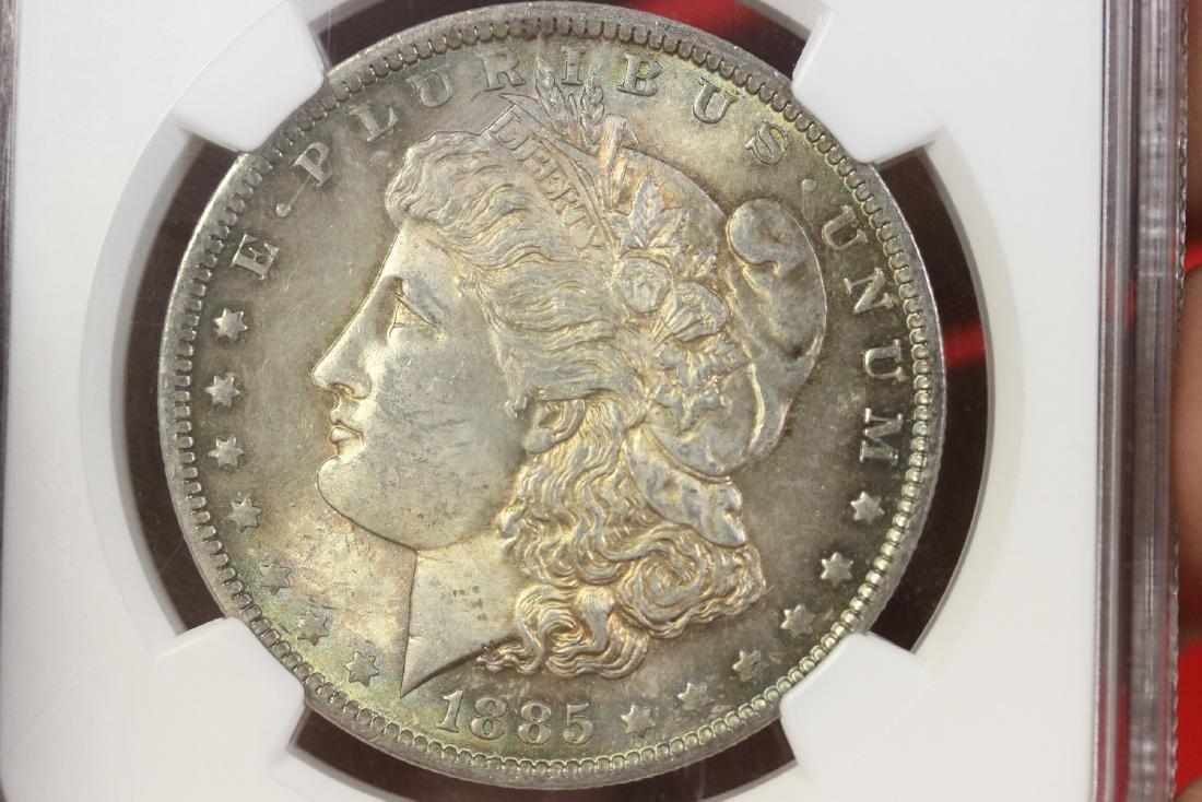 A Graded 1885-O Morgan Silver Dollar