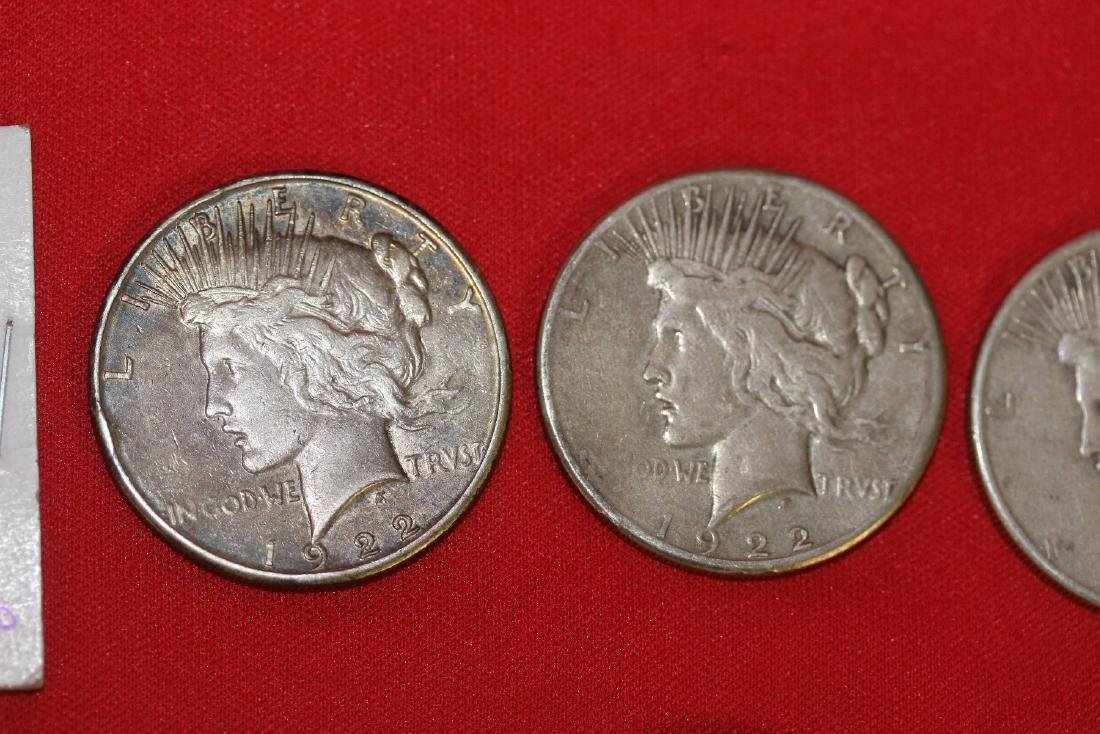 Lot of 8 Peace Dollars - 3