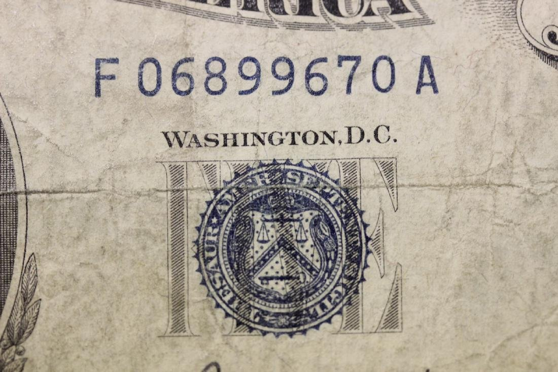 A 1953 $5.00 Blue Seal Note - 4
