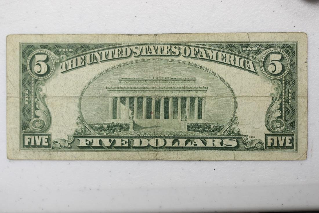 A 1953 $5.00 Blue Seal Note - 5