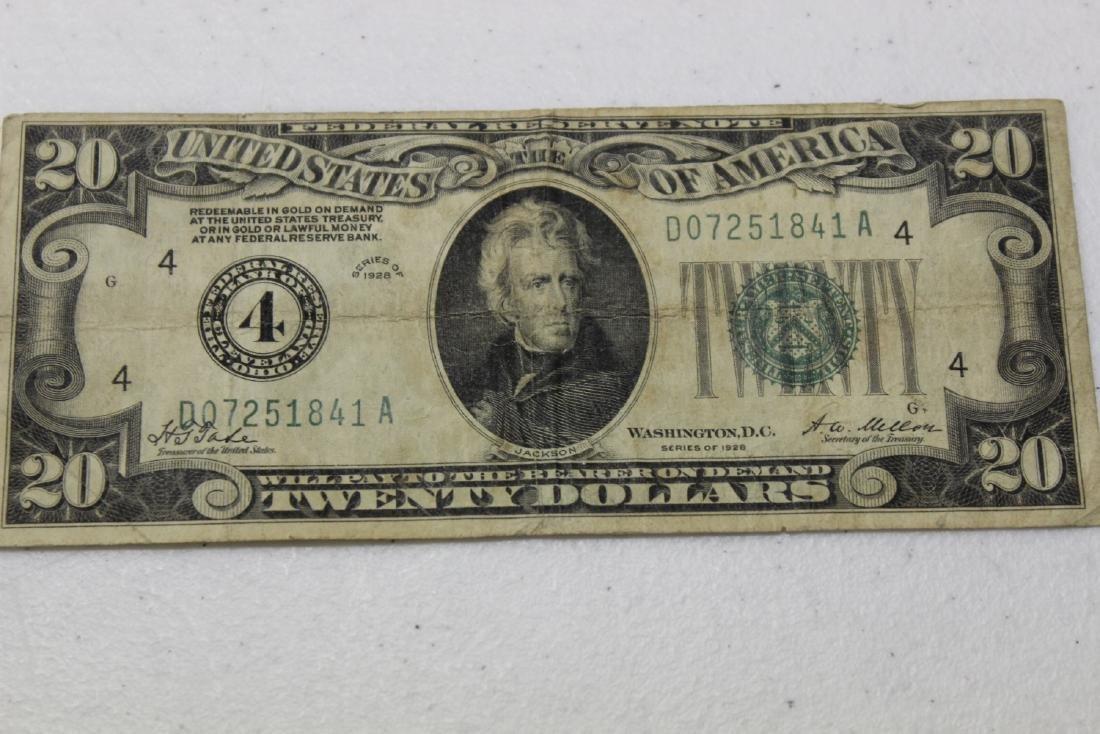 A 1928 Cleveland, Ohio Twenty Dollar Note