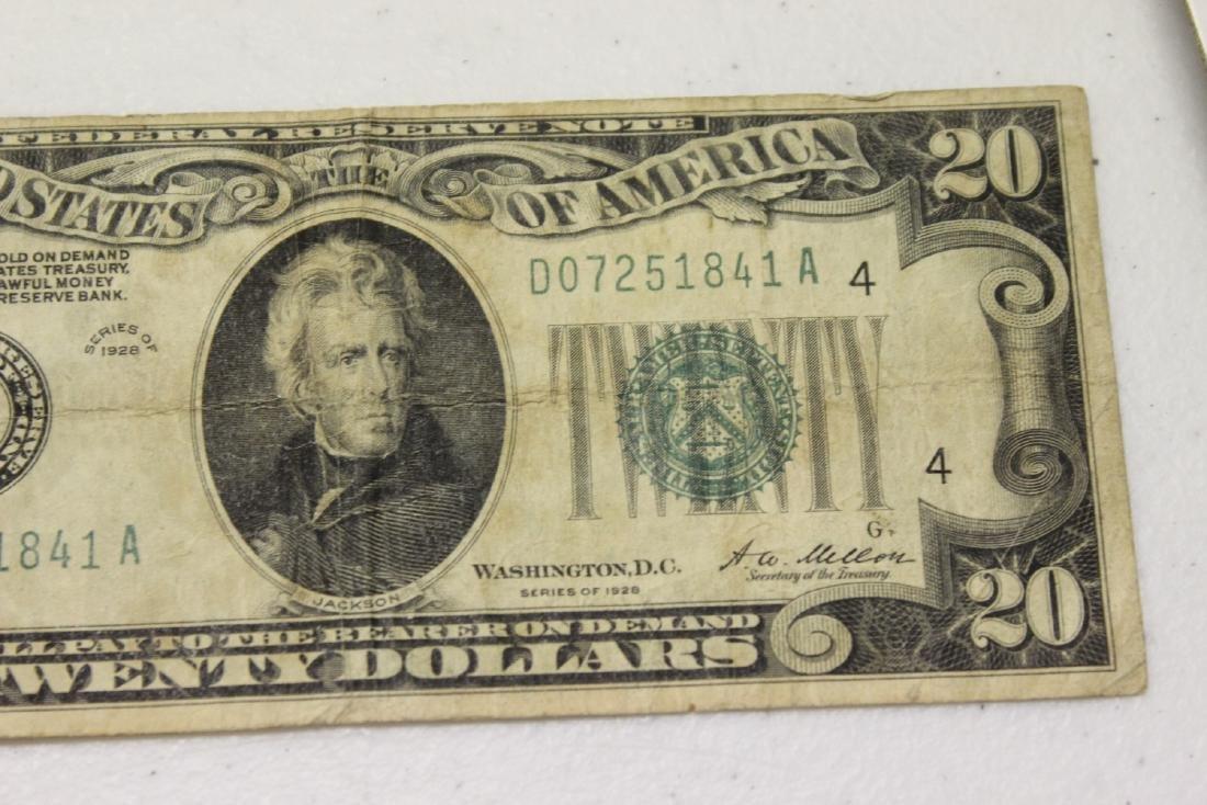 A 1928 Cleveland, Ohio Twenty Dollar Note - 2