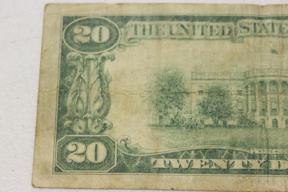 A 1928 Cleveland, Ohio Twenty Dollar Note - 6