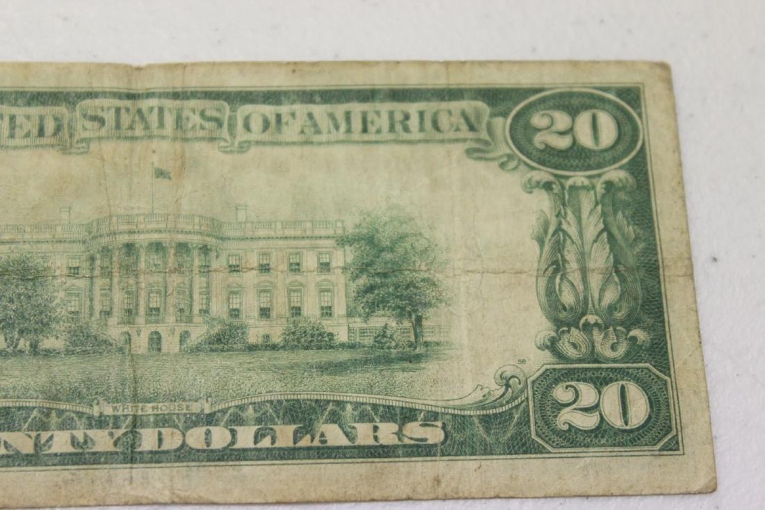 A 1928 Cleveland, Ohio Twenty Dollar Note - 7