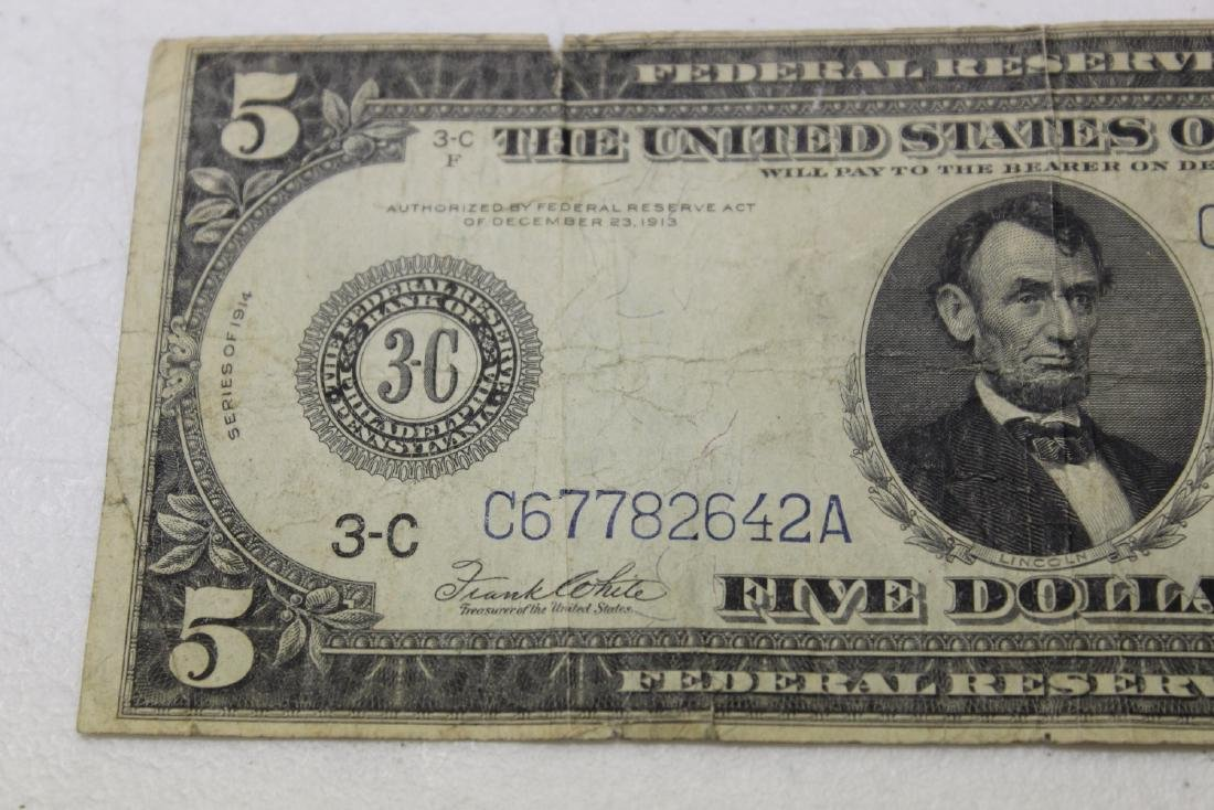 A 1914 $5.00 Note - 7