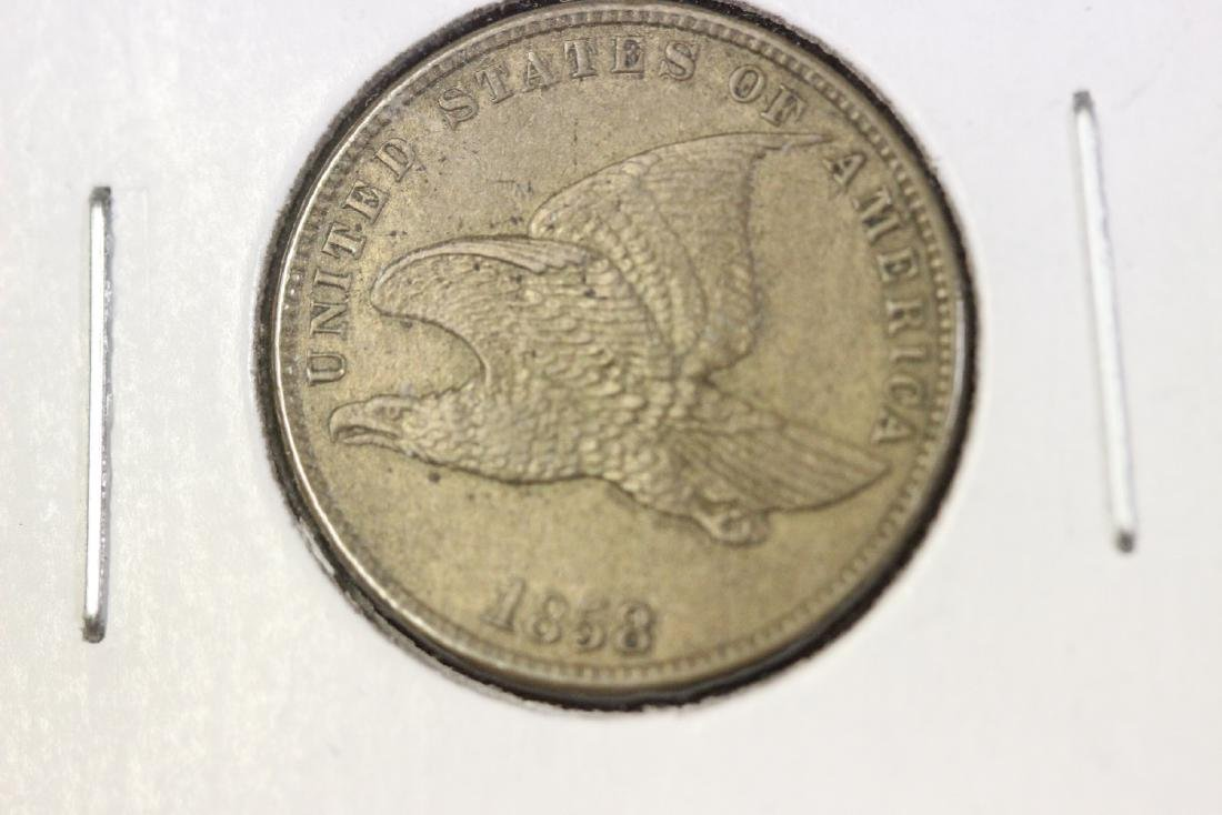 An 1858 Flying Eagle Penny