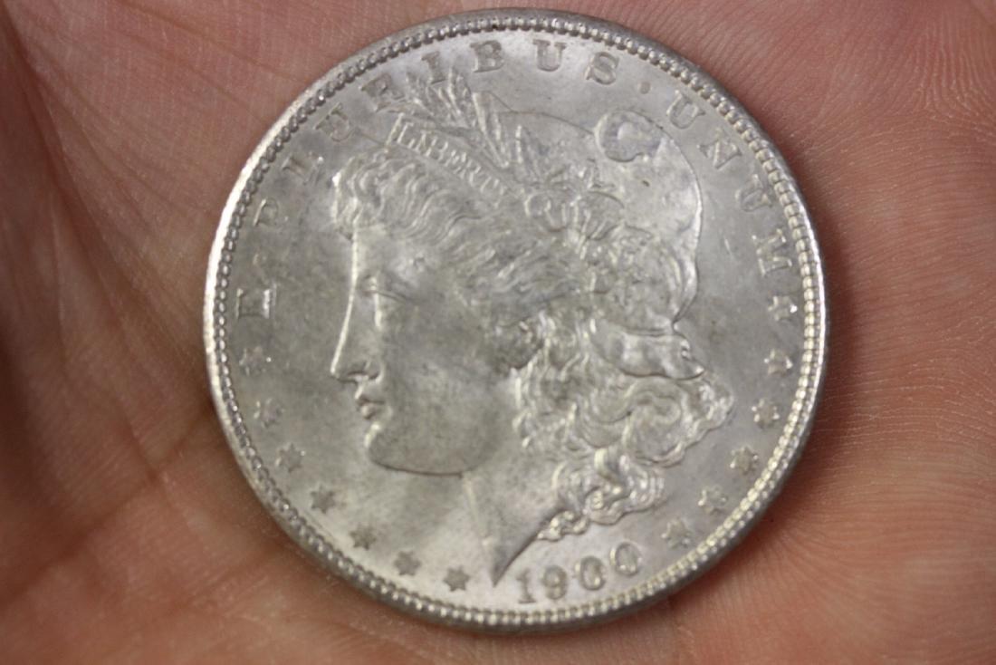 A 1900 Morgan Silver Dollar