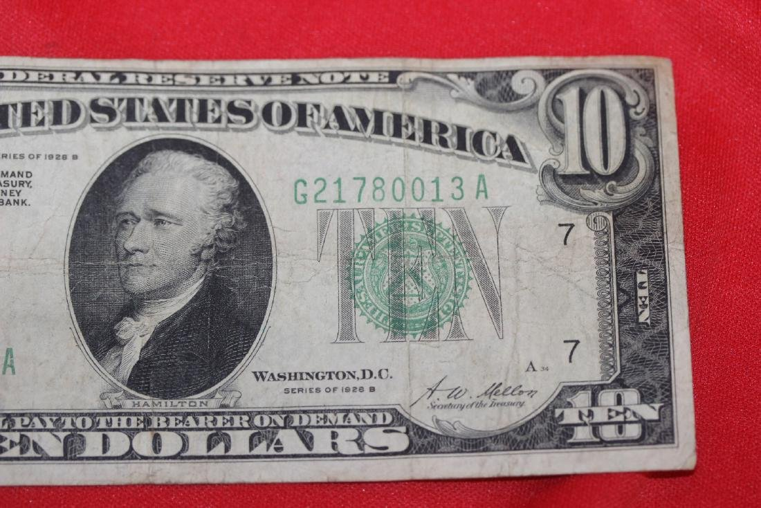 A 1928 $10.00 Note - 3