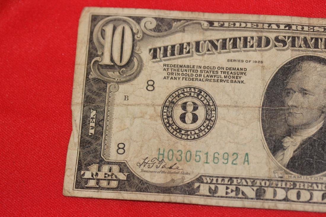 A 1928 $10.00 Note