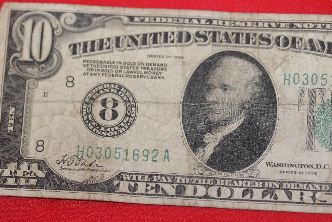 A 1928 $10.00 Note - 2