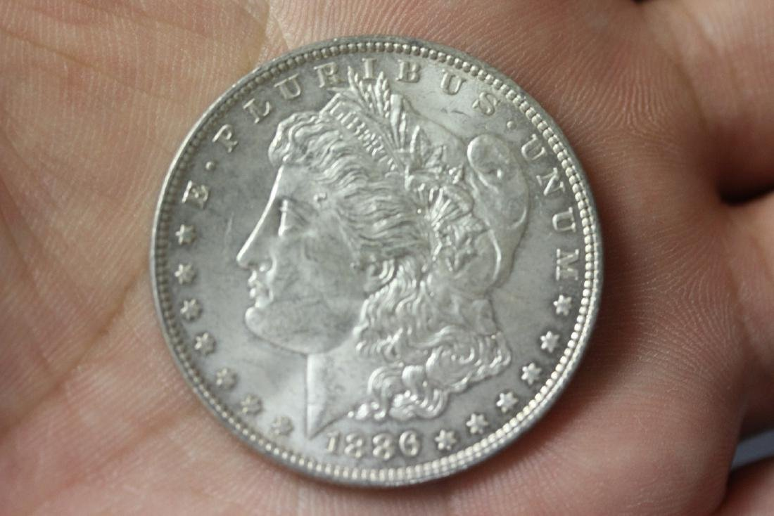 An 1886 Morgan Silver Dollar
