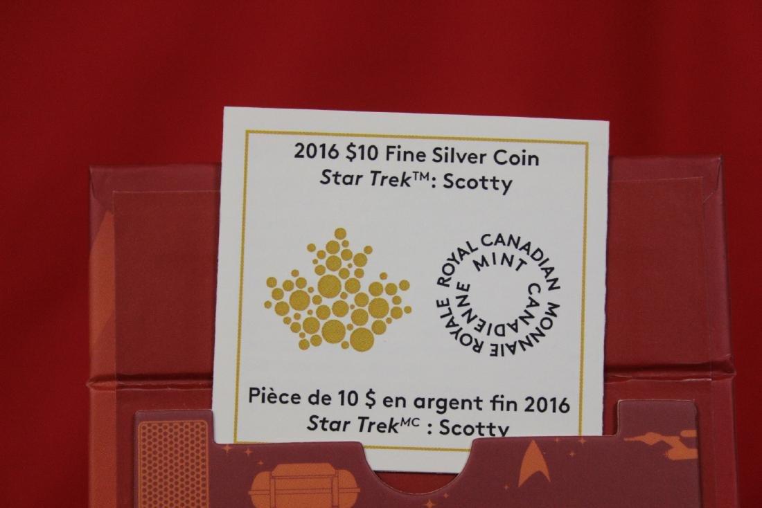 A Star Trek Canada Colorized $10.00 Silver Coin - 3