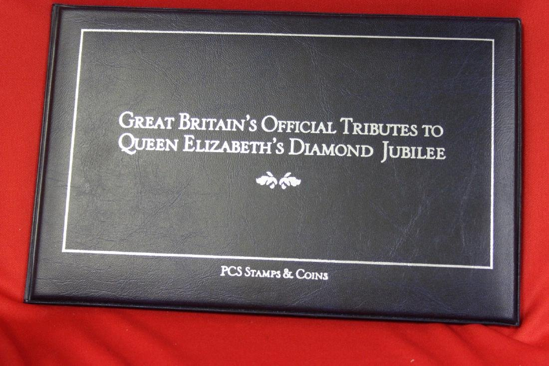 Queen Elizabeth's Diamond Jubilee PCS Stamps and Coin