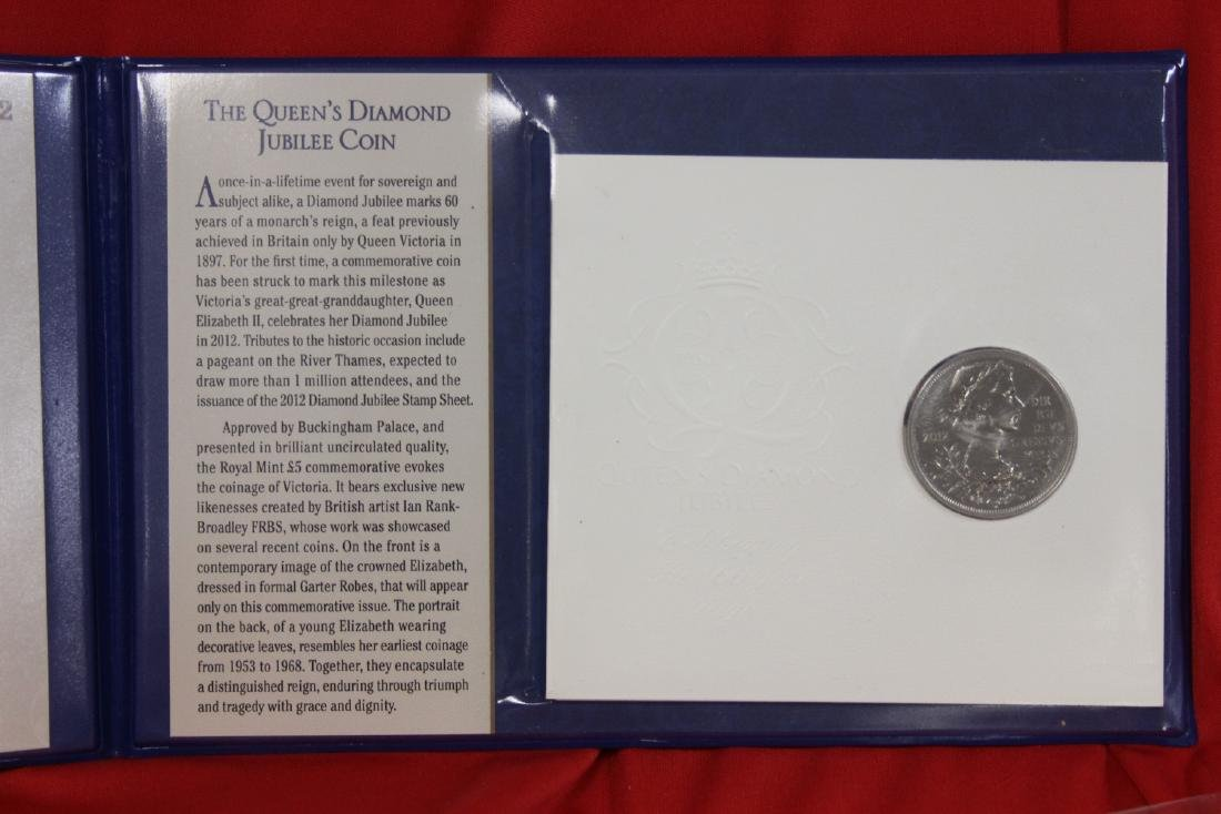 Queen Elizabeth's Diamond Jubilee PCS Stamps and Coin - 2