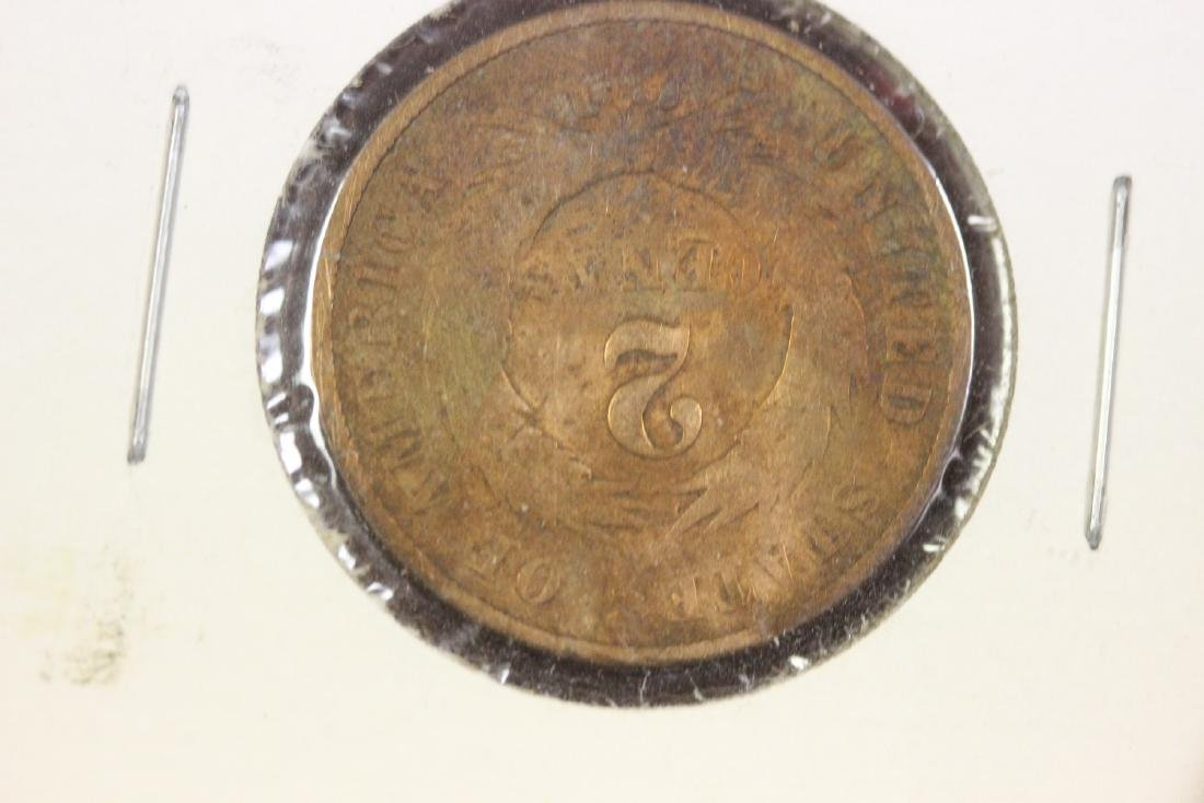 1869 Large Motto Two Cent Piece - 2