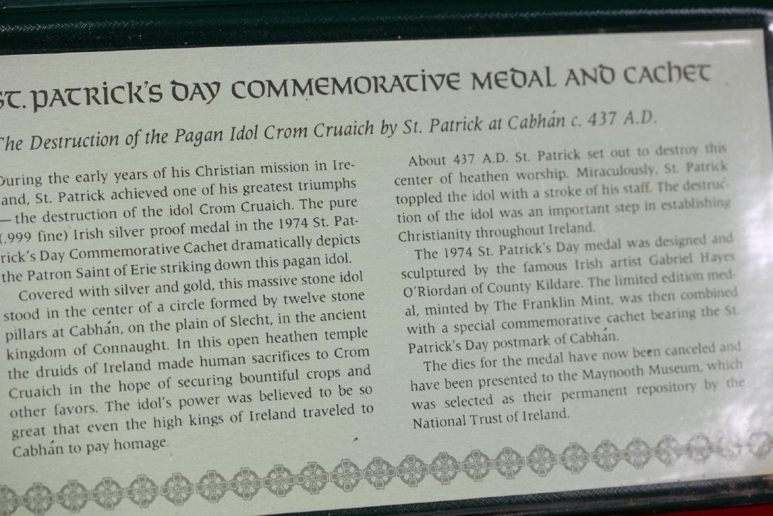 1974 St. Patrick's Day Commemorative Medal and Cachet - 3