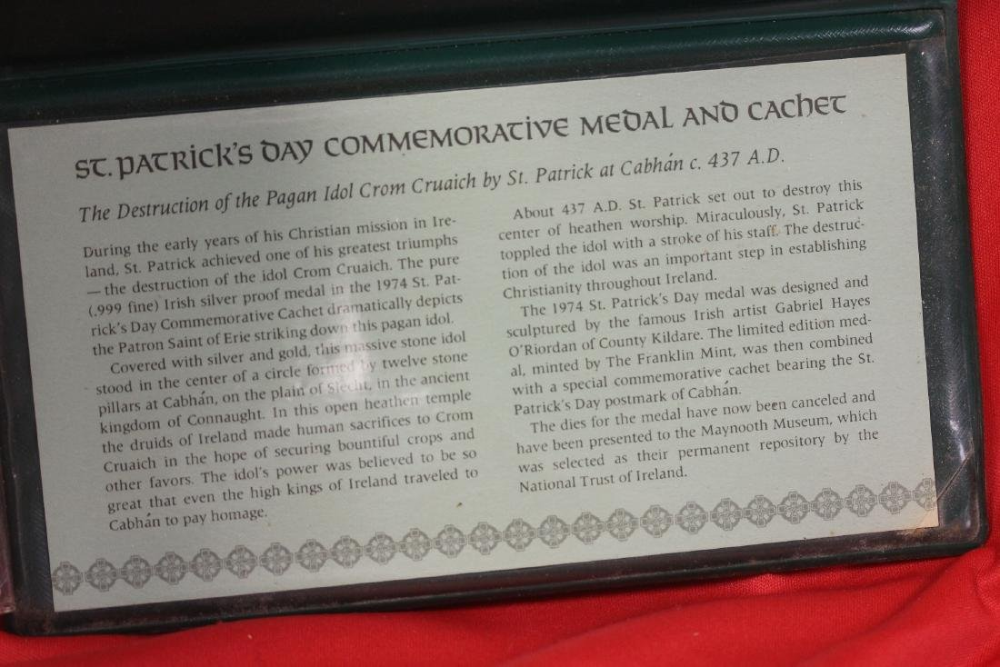 1974 St. Patrick's Day Commemorative Medal and Cachet - 5
