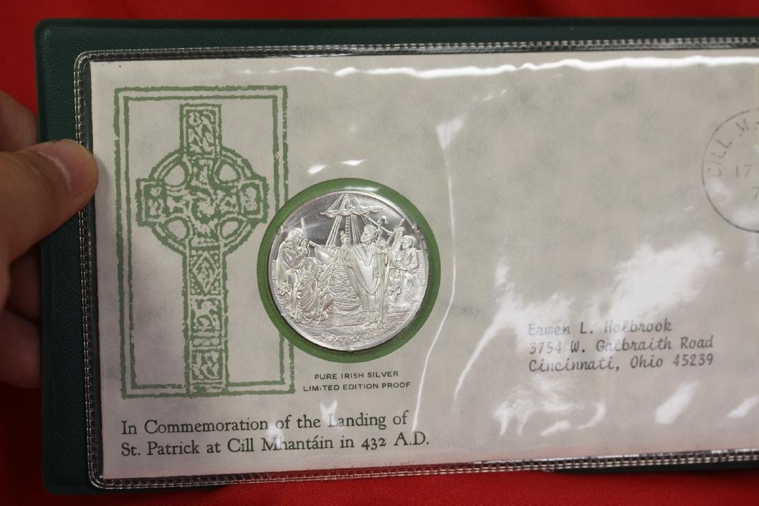 1972 St. Patrick's Day Commemorative Medal and Cachet - 3