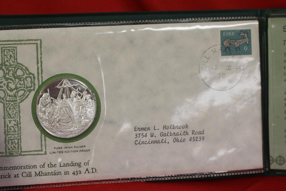 1972 St. Patrick's Day Commemorative Medal and Cachet - 4