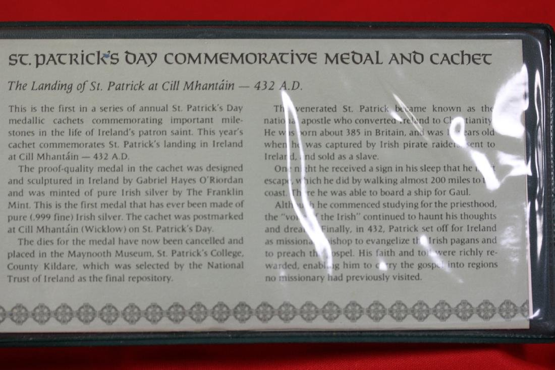 1972 St. Patrick's Day Commemorative Medal and Cachet - 6