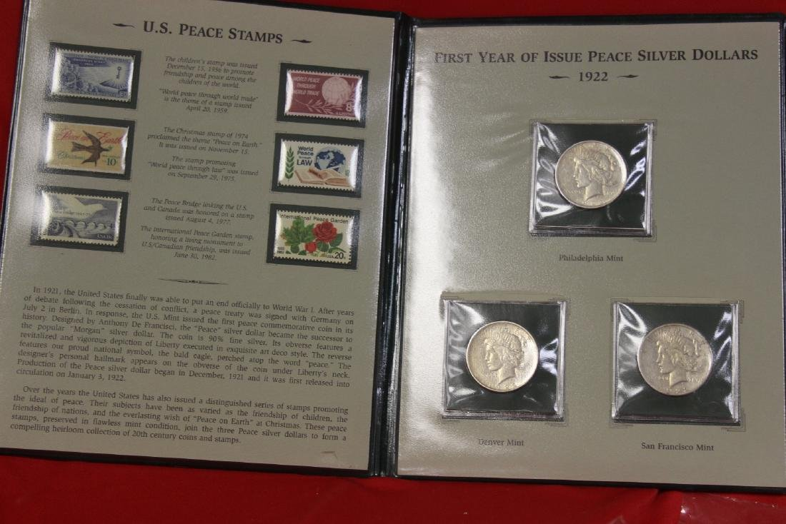 The Peace Silver Dollars and Stamps Collection