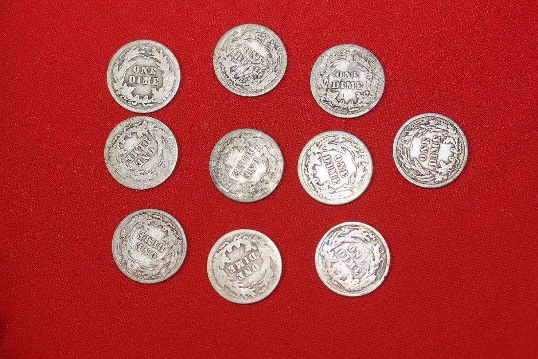 Lot of 10 Barber Dimes