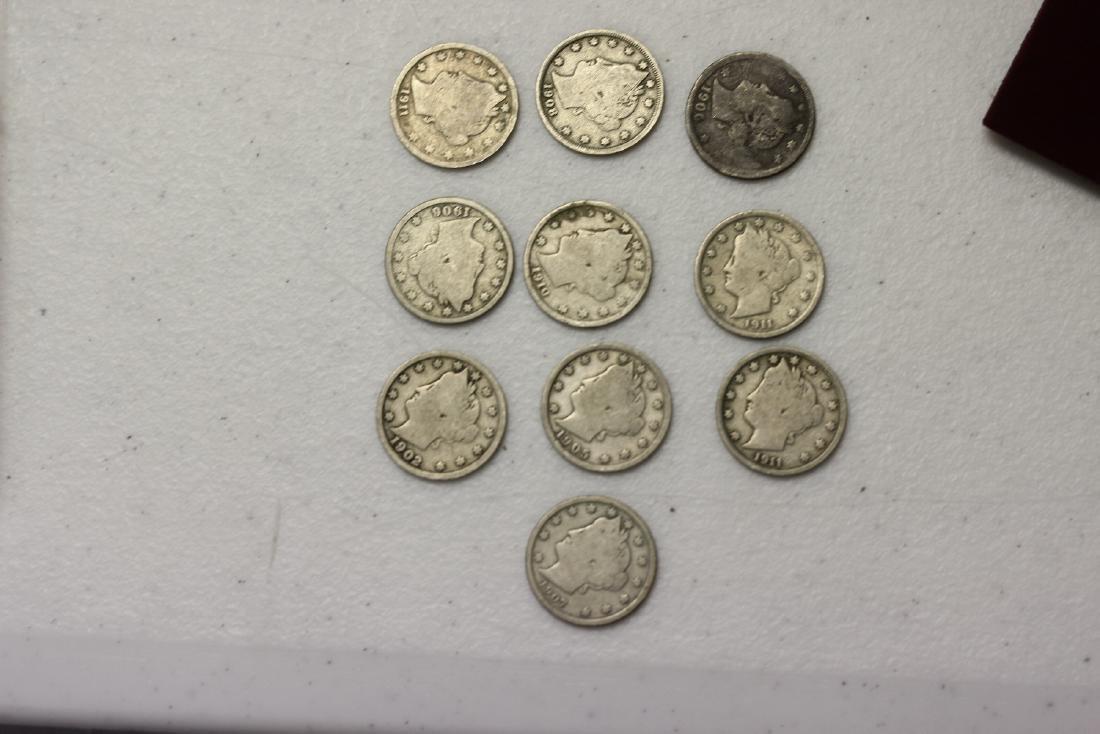 Lot of 10 V Nickels