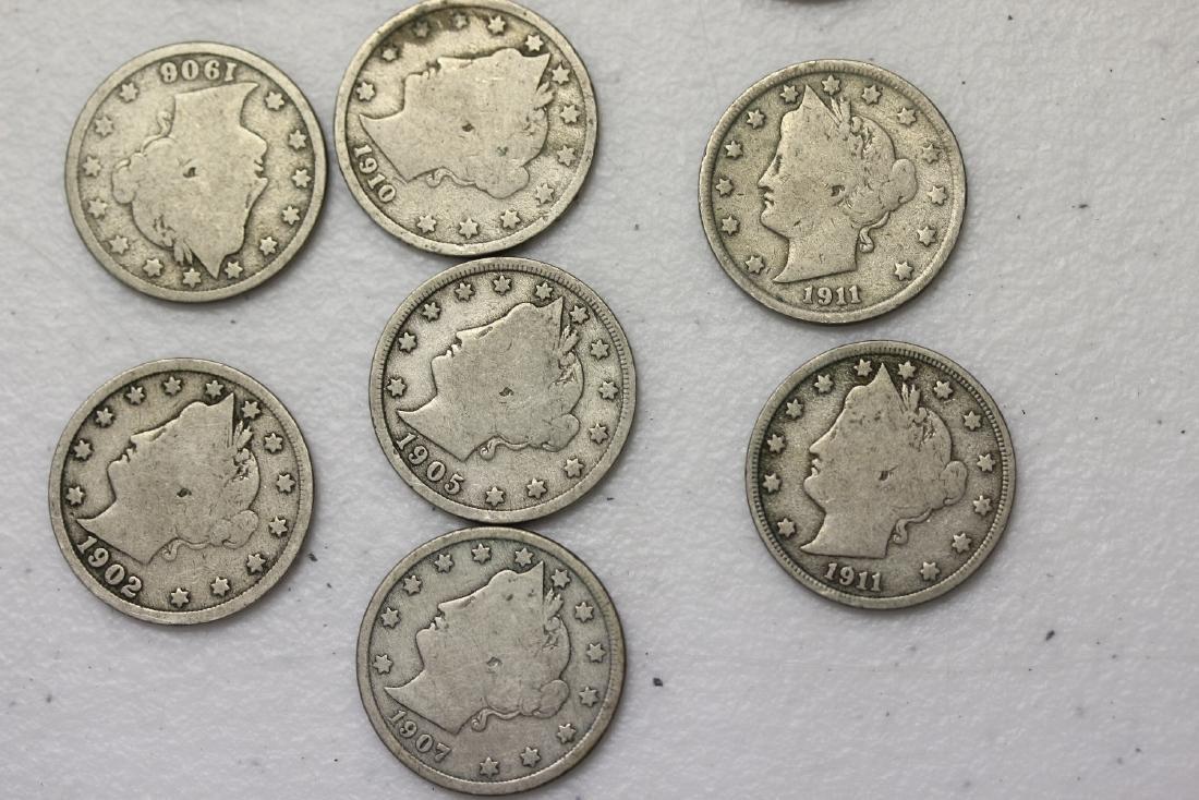 Lot of 10 V Nickels - 2