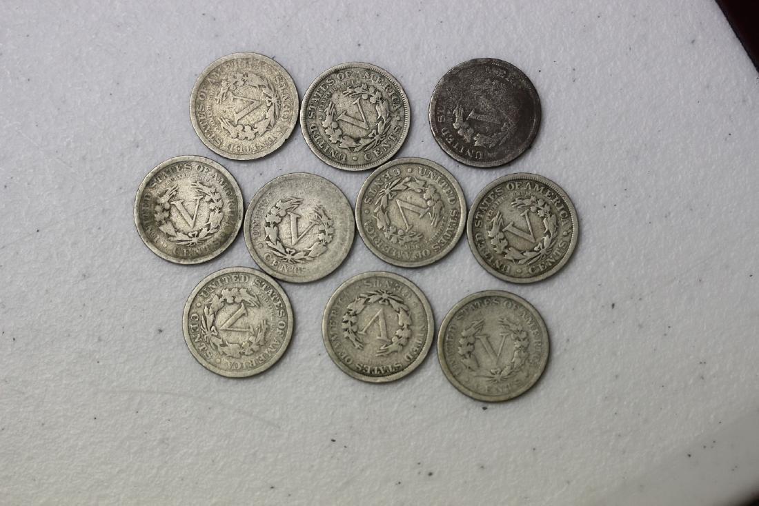 Lot of 10 V Nickels - 3