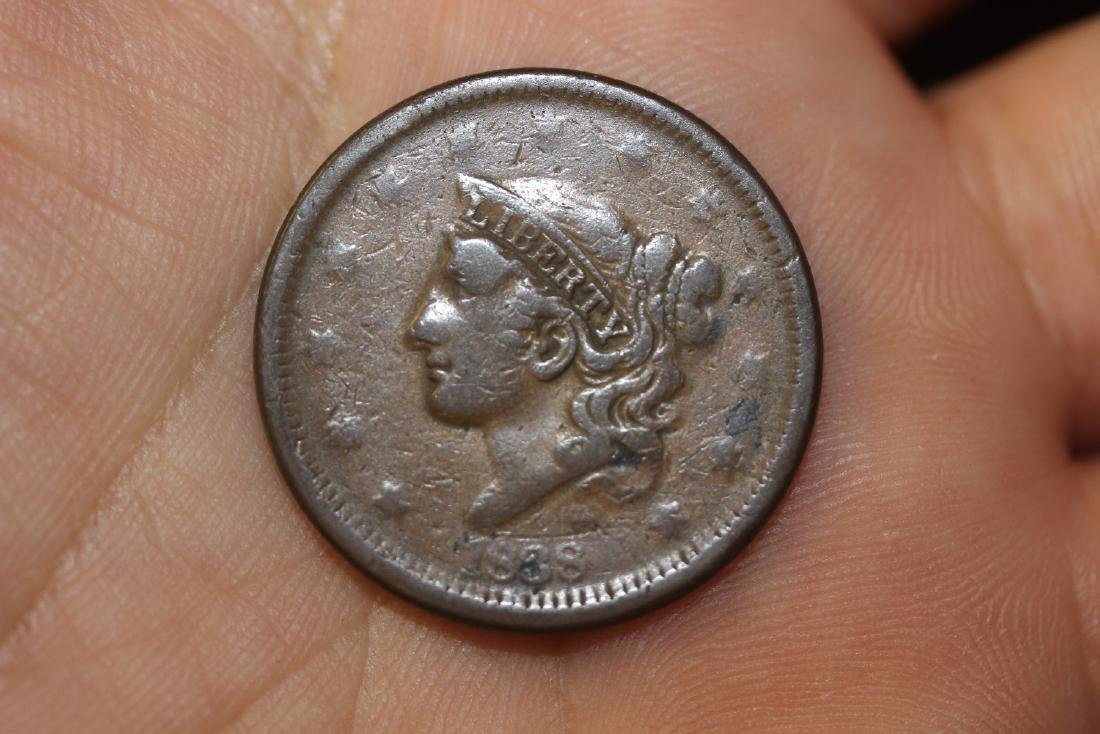 An 1838 Large Cent