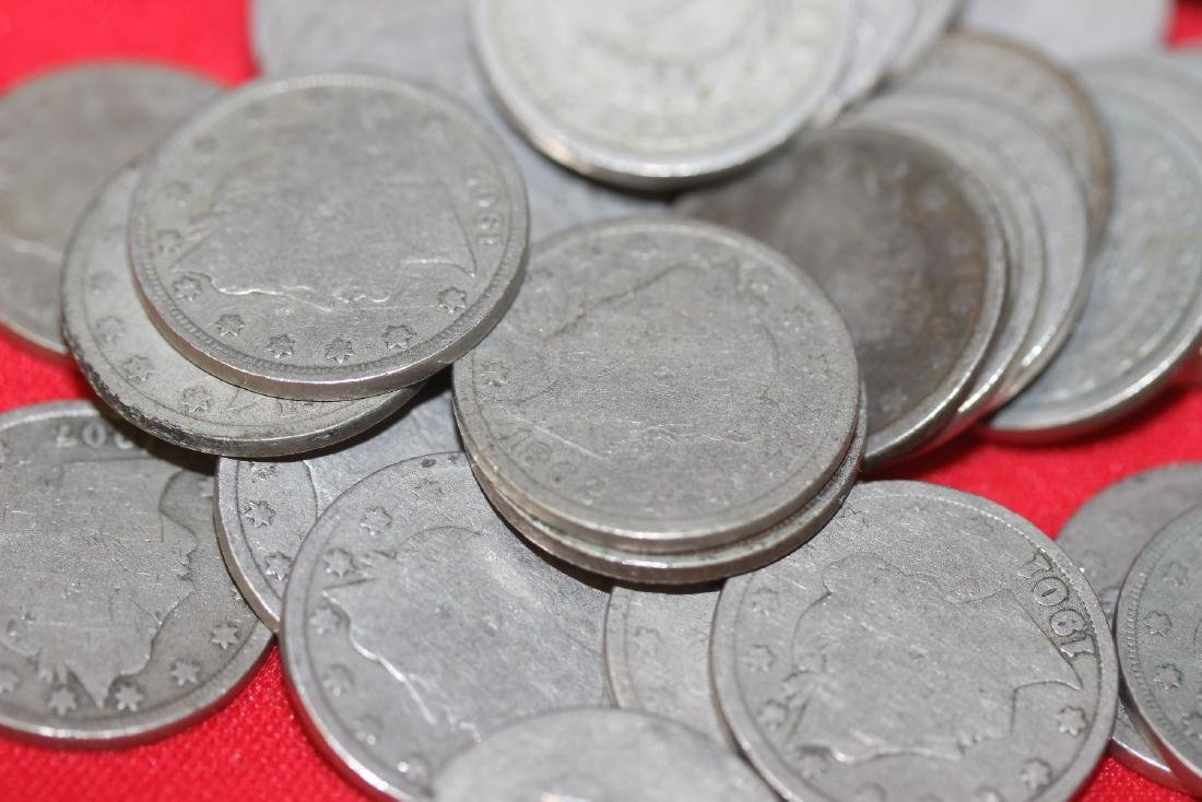 A 100 Unsorted  V Nickels - 3