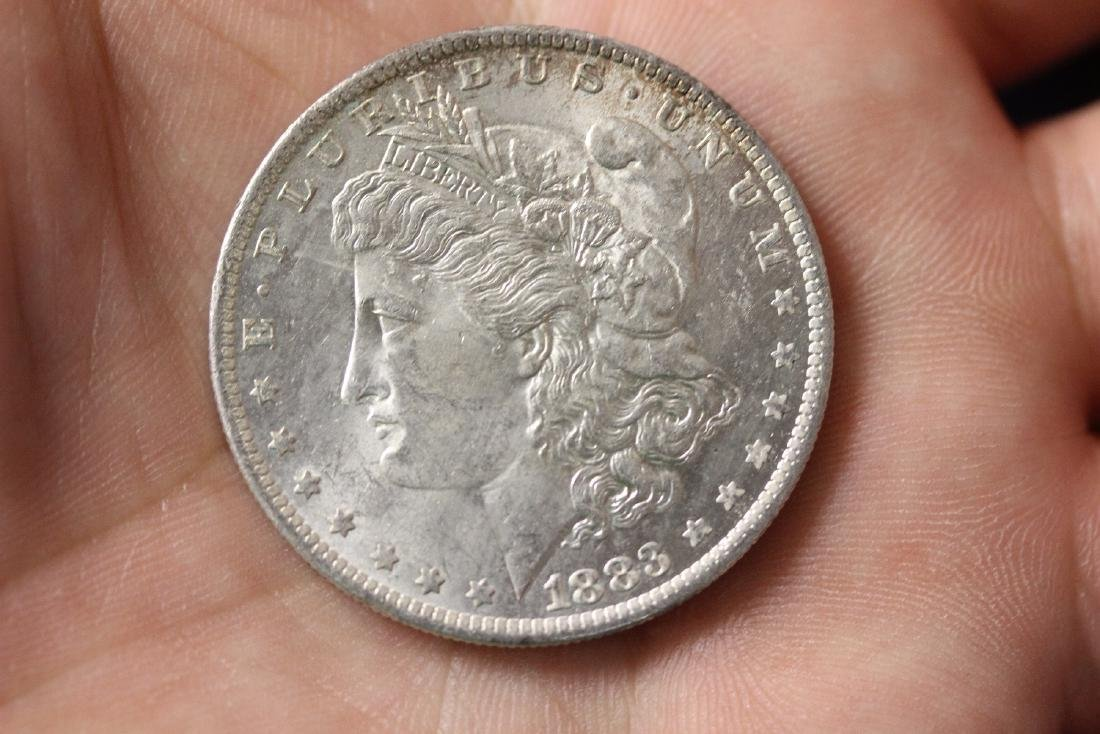 An 1883-O Morgan Silver Dollar
