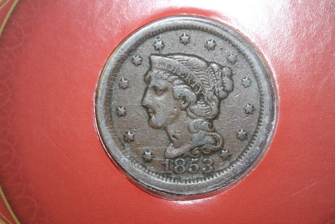 An 1853 Liberty Head Large Cent - 2