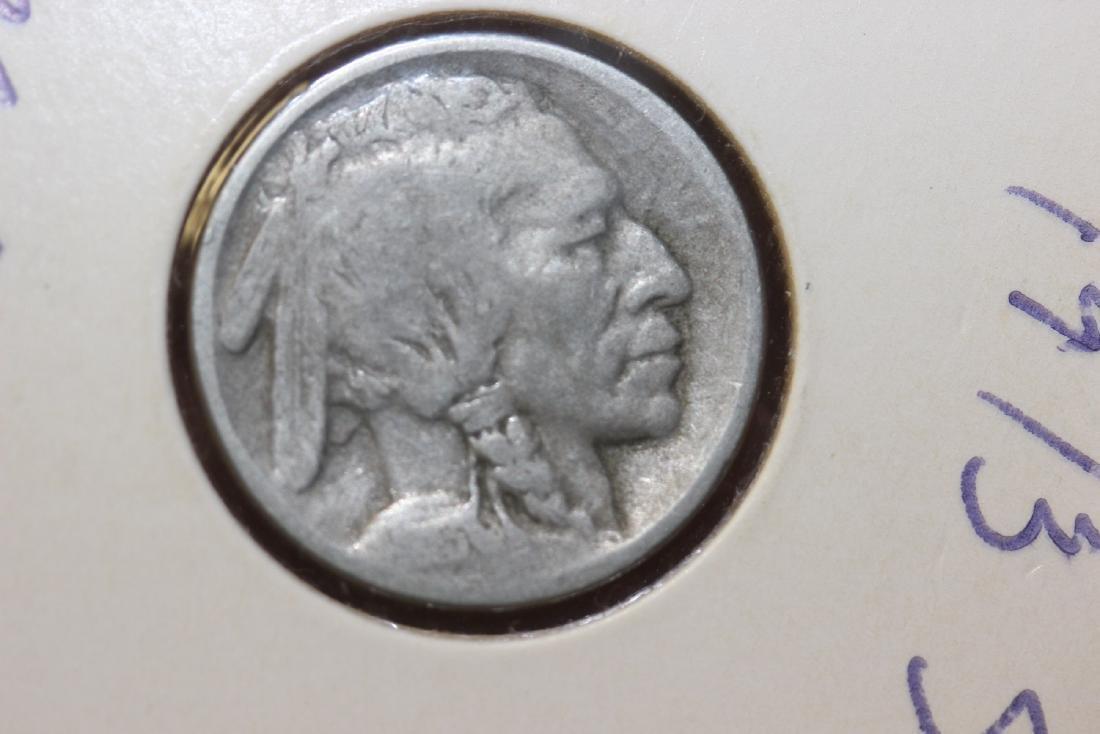 A 1913 Type I Buffalo Nickel