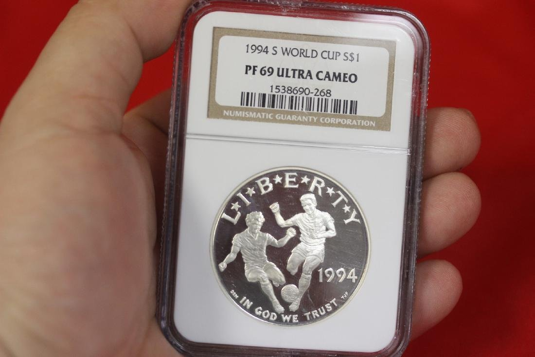 An NGC Graded 1994 S World Cup Coin