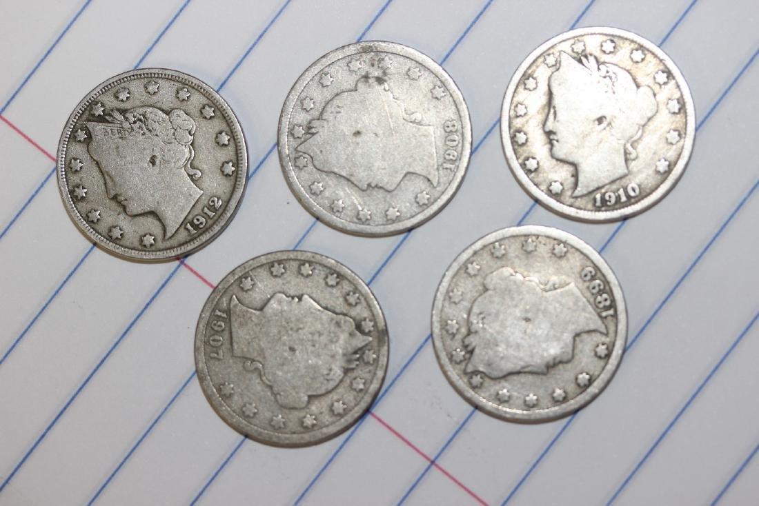 Lot of 5 V Nickels
