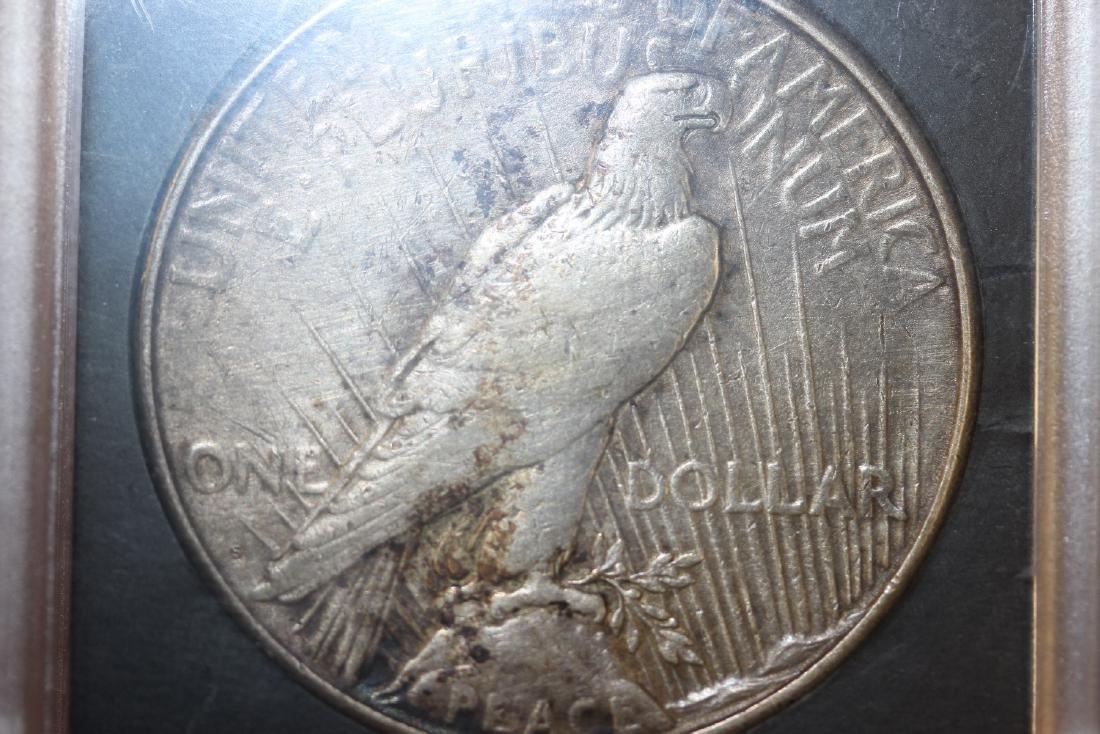 A 1923-S Peace Silver Dollar - 2